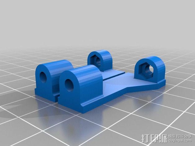 风扇通风导管支架 风扇支架 3D模型  图2