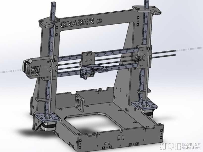 Graber i3打印机 3D模型  图1