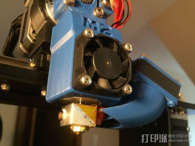 makergear m2打印机送料器和风扇导管 3D模型  图4