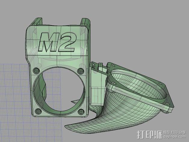 makergear m2打印机送料器和风扇导管 3D模型  图5
