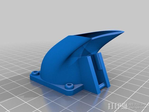 makergear m2打印机送料器和风扇导管 3D模型  图6