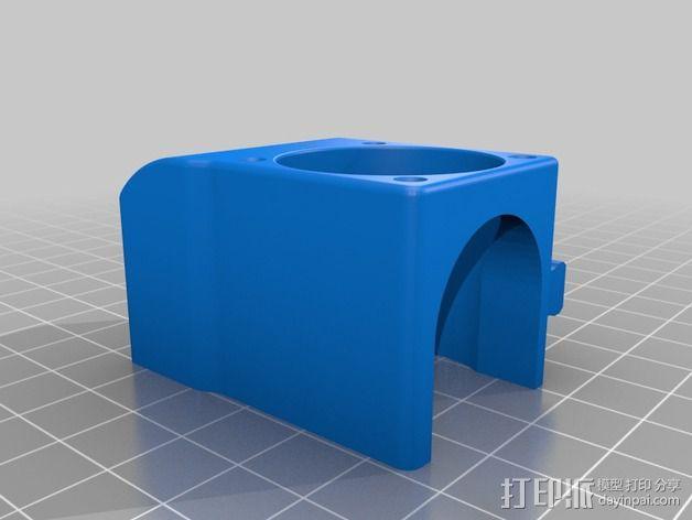 makergear m2打印机送料器和风扇导管 3D模型  图7