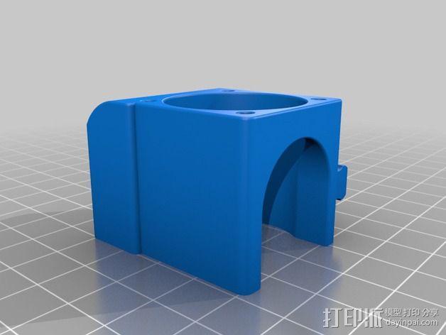 makergear m2打印机送料器和风扇导管 3D模型  图8