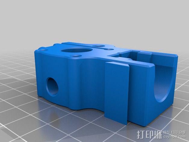 makergear m2打印机送料器和风扇导管 3D模型  图10