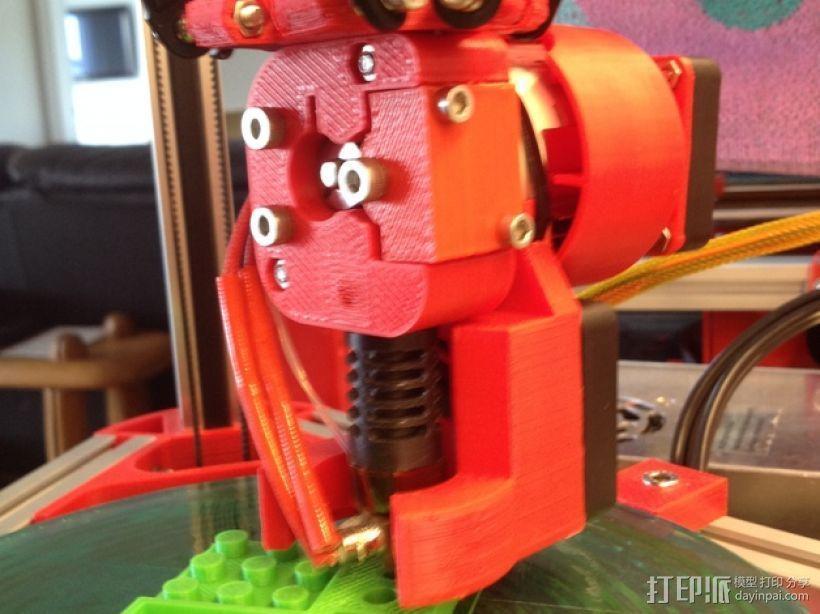 Mini Kossel挤出机导管 3D模型  图2