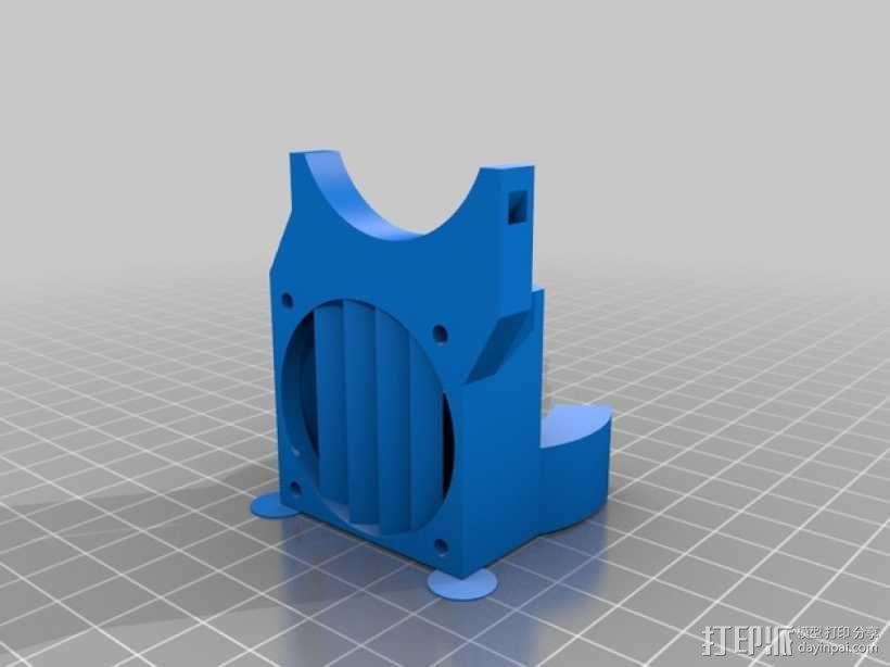 Mini Kossel挤出机导管 3D模型  图4