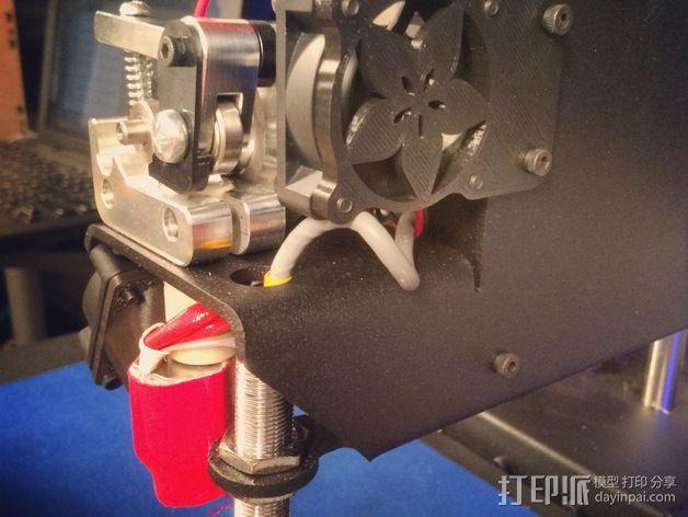 Printrbot Metal打印机挤出机风扇罩 3D模型  图1
