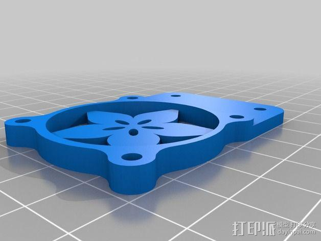 Printrbot Metal打印机挤出机风扇罩 3D模型  图3