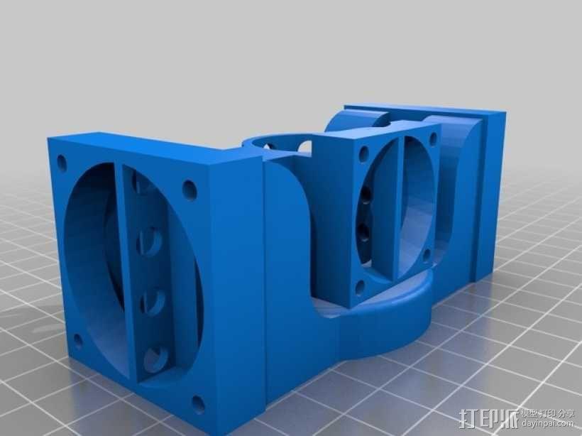 Prusa i3 打印机 J-Head式喷头散热系统 3D模型  图1