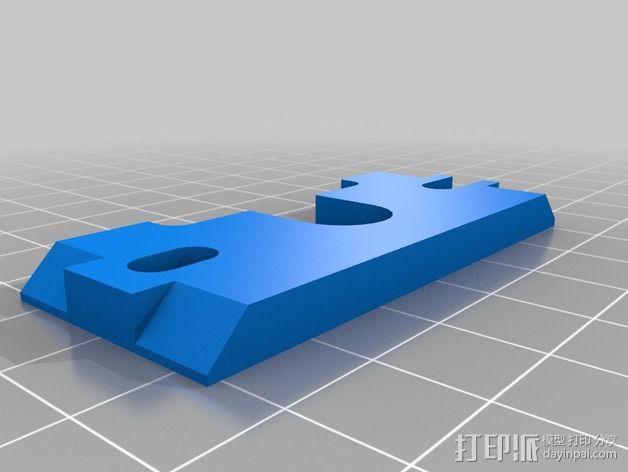 Prusa i3 打印机 J-Head式喷头散热系统 3D模型  图3