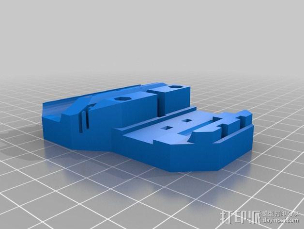 Prusa i3 打印机 J-Head式喷头散热系统 3D模型  图4