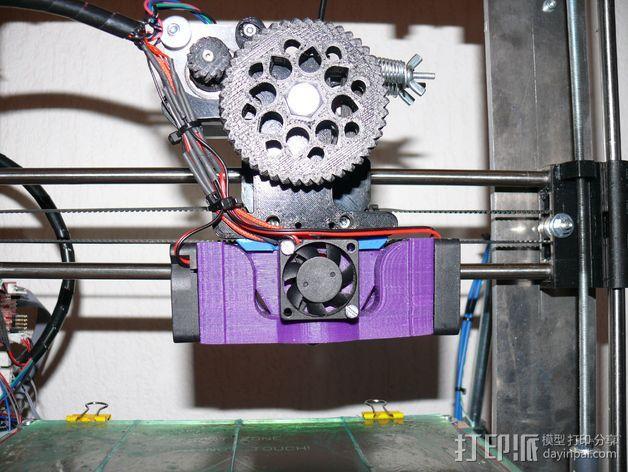 Prusa i3 打印机 J-Head式喷头散热系统 3D模型  图9