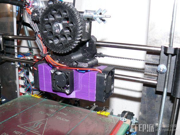 Prusa i3 打印机 J-Head式喷头散热系统 3D模型  图6
