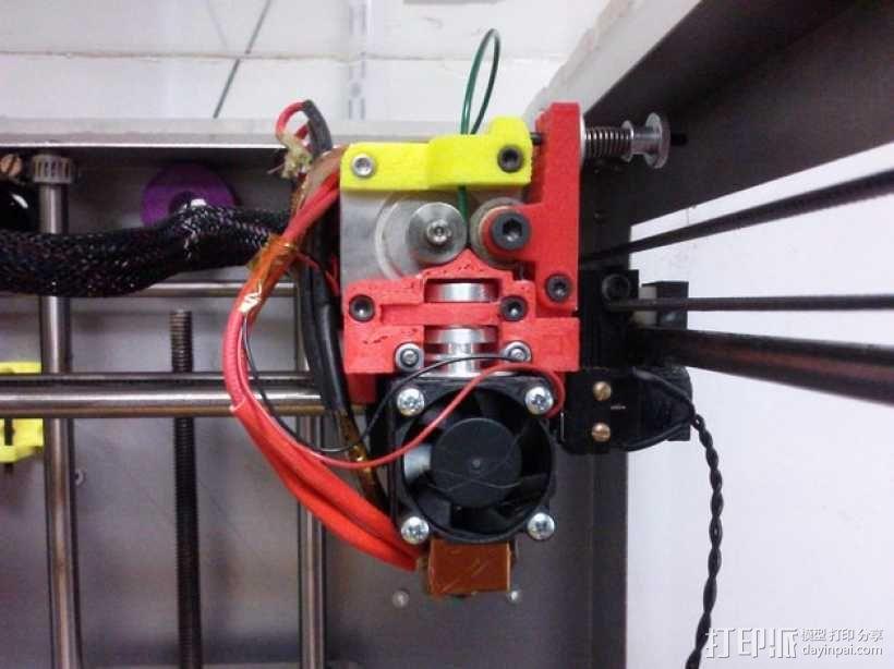 挤出机固定器 3D模型  图1