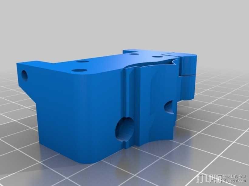 挤出机固定器 3D模型  图2