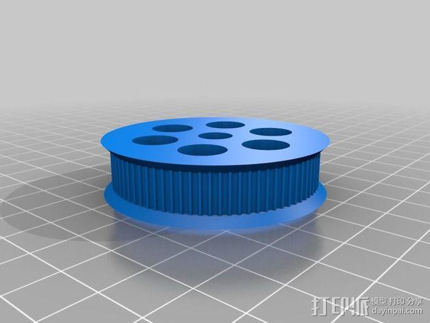 K8200 / 3drag皮带驱动挤出机 3D模型  图3