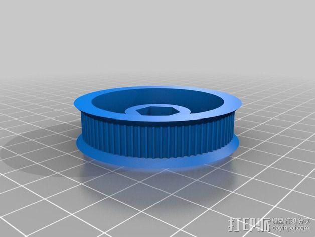 K8200 / 3drag皮带驱动挤出机 3D模型  图2