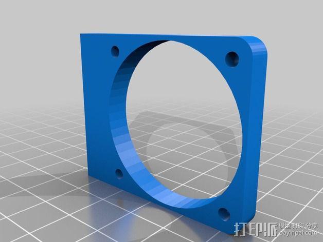 Printrbot打印机风扇罩 3D模型  图2