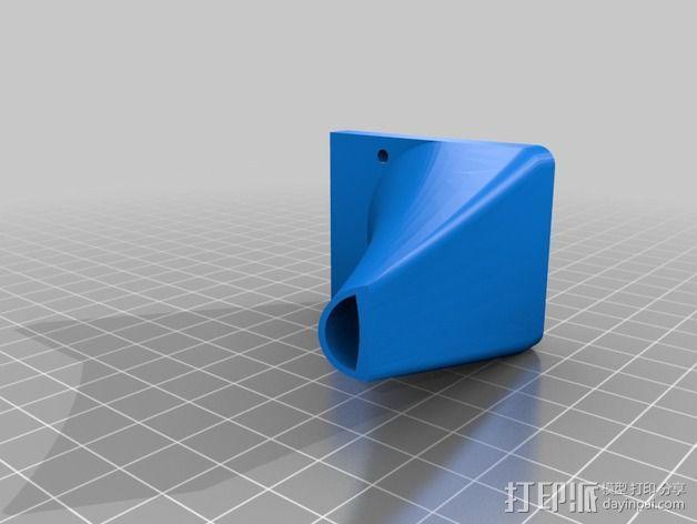 Printrbot打印机风扇罩 3D模型  图3