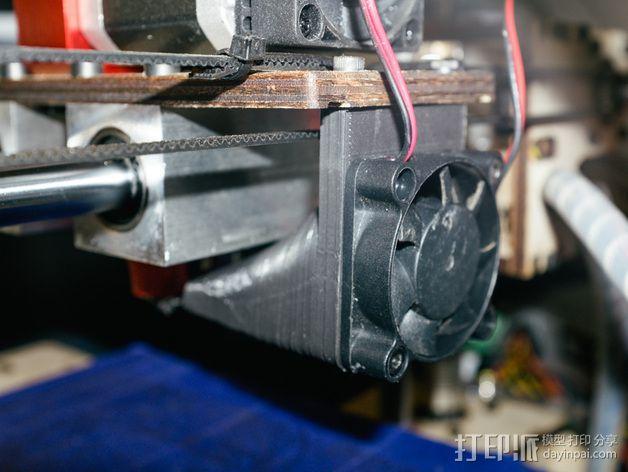 Printrbot打印机风扇罩 3D模型  图4