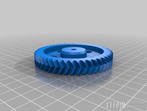 MK7齿轮挤出机  3D模型  图6