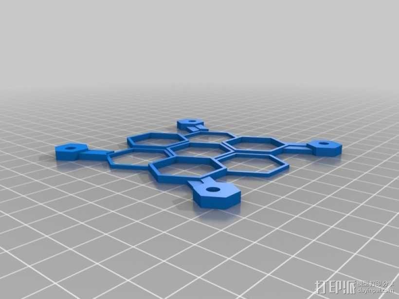 蜂巢式电路板保护罩 3D模型  图3