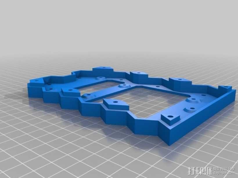 蜂巢式电路板保护罩 3D模型  图6