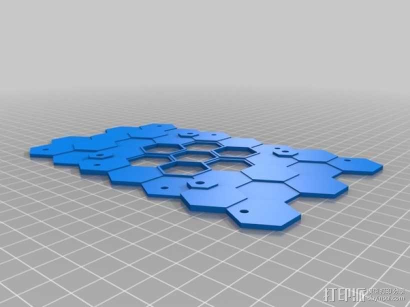 蜂巢式电路板保护罩 3D模型  图5