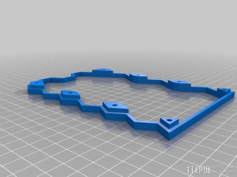 蜂巢式电路板保护罩 3D模型  图4