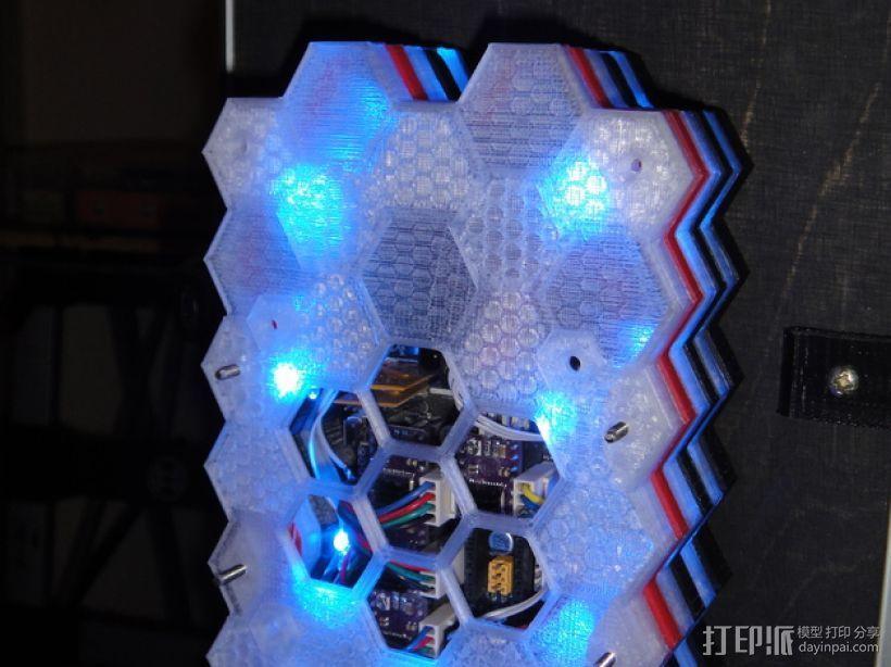 蜂巢式电路板保护罩 3D模型  图9