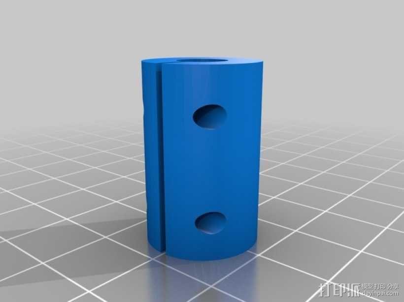 Printrbot Simple打印机Z轴耦合器 3D模型  图1