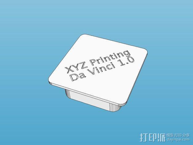 XYZ Da Vinci 打印机铝制框架盖帽 3D模型  图1