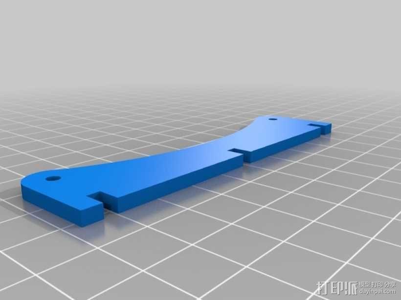 Printrbot 打印机线轴支架 3D模型  图3