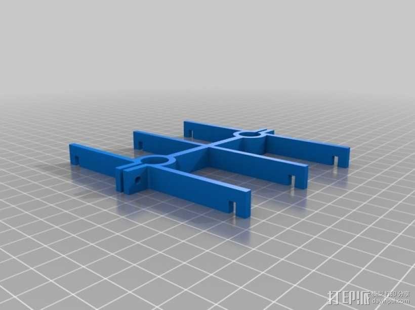 Printrbot 打印机线轴支架 3D模型  图2