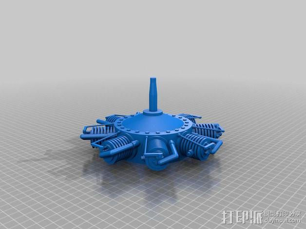 星形发动机 3D模型  图2