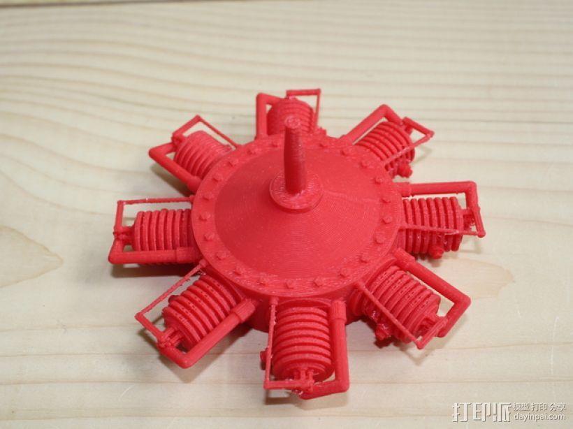 星形发动机 3D模型  图1