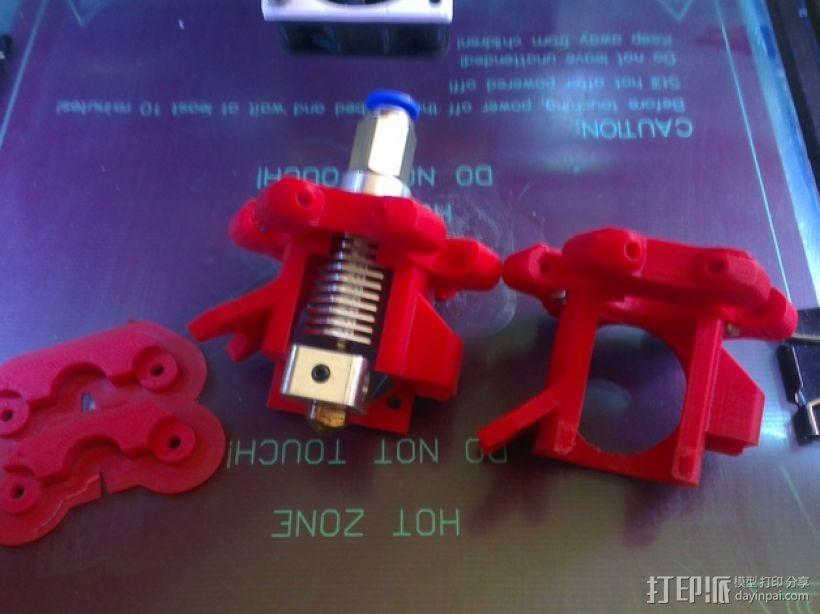 Kossel 打印机六角喷头支架 3D模型  图1