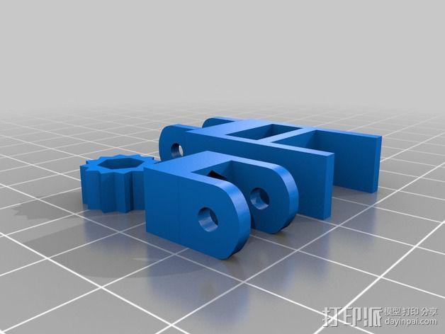 皮带张紧器 3D模型  图2