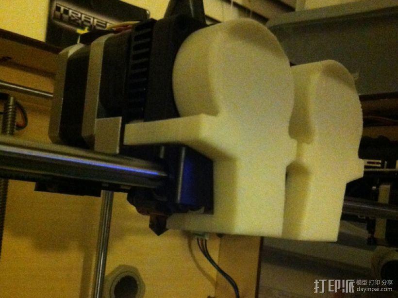 风扇导管 导管夹 3D模型  图2