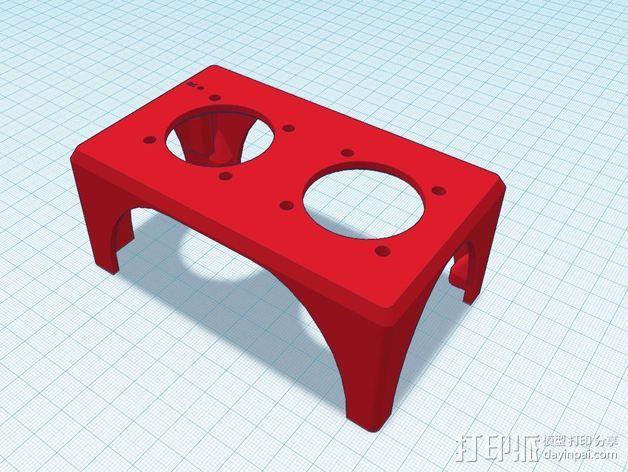 K8200 风扇支架 3D模型  图1