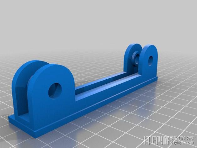 线轴底座 3D模型  图3