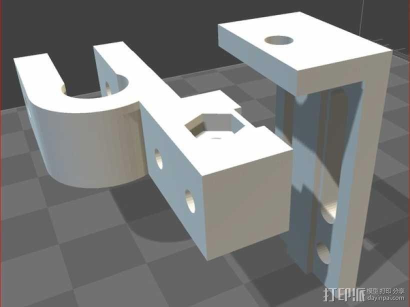 可调节的限位开关 3D模型  图1