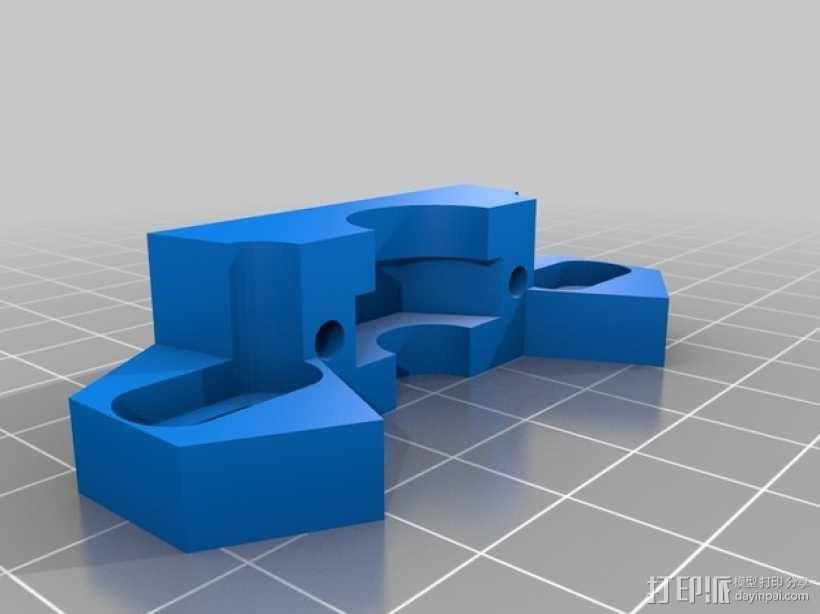 耦合器支架 3D模型  图1