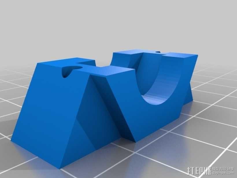 耦合器支架 3D模型  图2
