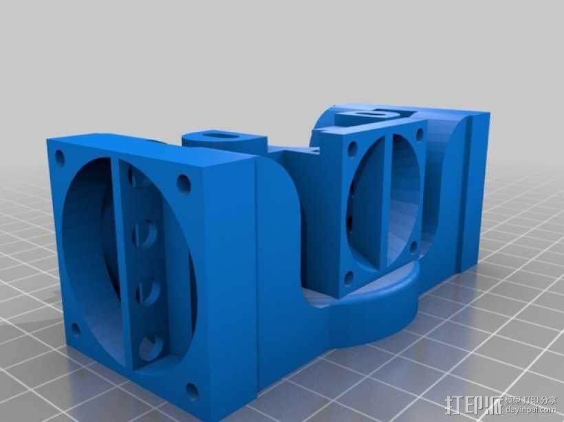 挤出机J-Head/object式喷头散热装置 3D模型  图1
