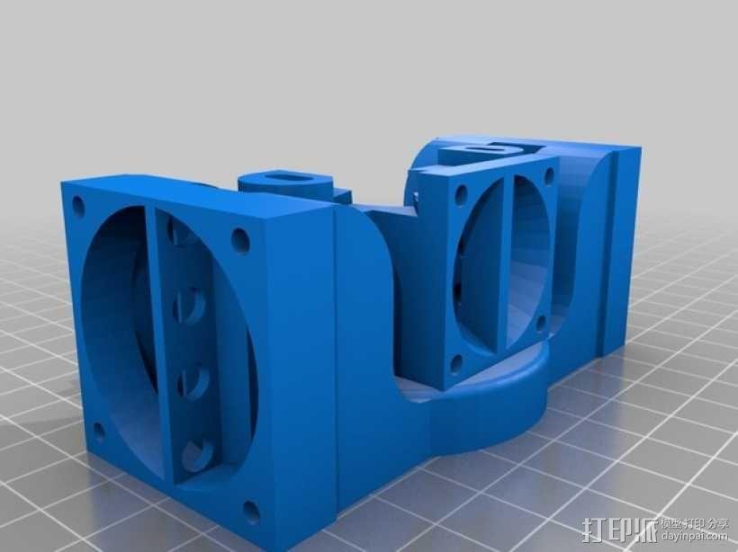 挤出机J-Head/object式喷头散热装置 3D模型  图2