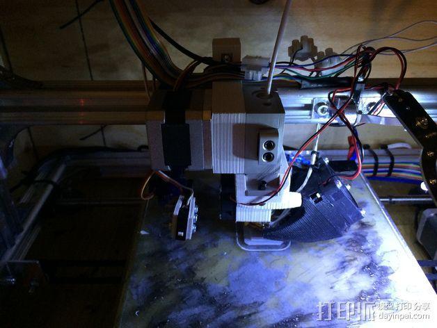 K8200/3drag打印机的挤出机支架 3D模型  图4
