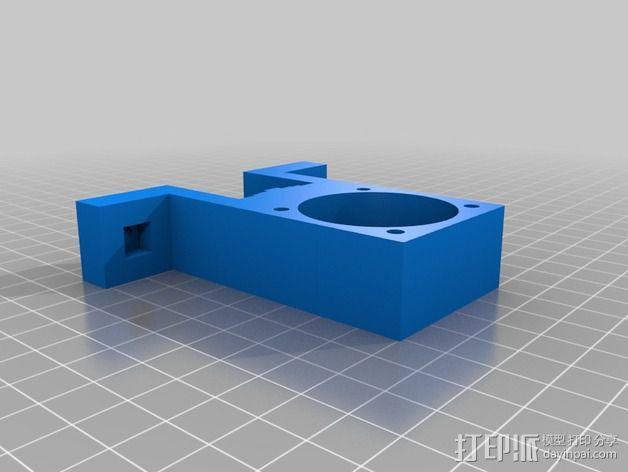 K8200/3drag打印机的挤出机支架 3D模型  图2