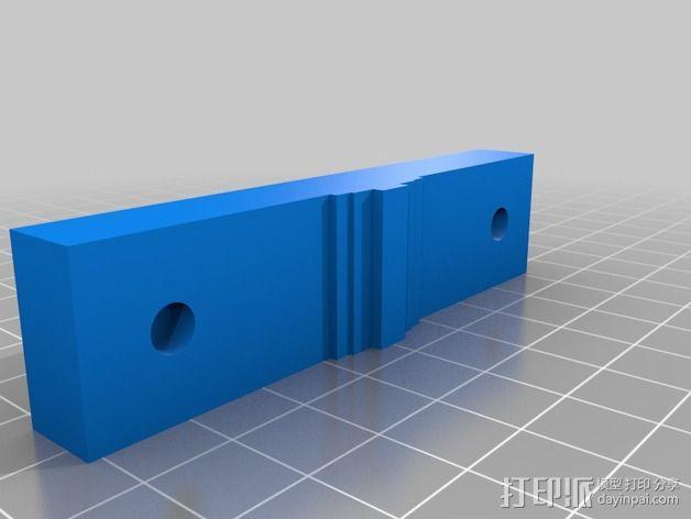 K8200/3drag打印机的挤出机支架 3D模型  图3
