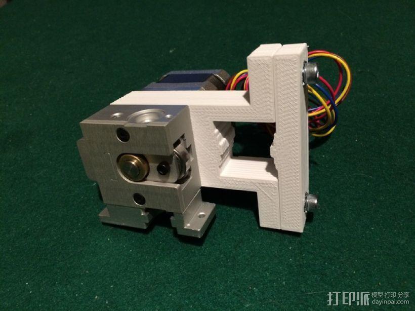 K8200/3drag打印机的挤出机支架 3D模型  图1